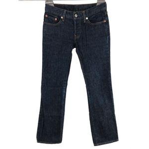 Levis Womens 599 Slim Bootcut Jeans 26 x 30 Dark
